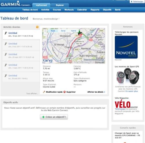 Garmin Connect_Accueil