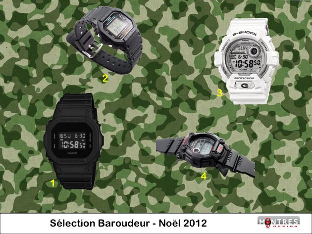 Guide achat sélection montre indestructible baroudeur noel 2012