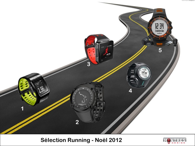 Guide achat sélection montres running noel 2012