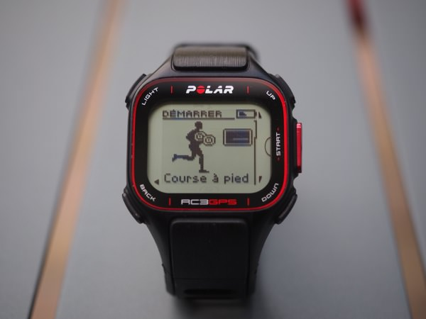 Polar RC3 GPS start
